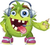 Funny Monster Cartoon Vector Character AKA Hal the Messy Pal - Support