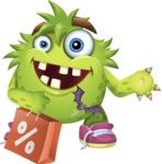Funny Monster Cartoon Vector Character AKA Hal the Messy Pal - Sale