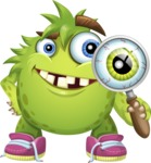 Funny Monster Cartoon Vector Character AKA Hal the Messy Pal - Search