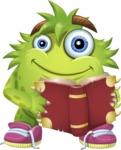 Funny Monster Cartoon Vector Character AKA Hal the Messy Pal - Book