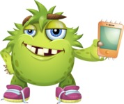 Funny Monster Cartoon Vector Character AKA Hal the Messy Pal - iPhone
