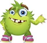Funny Monster Cartoon Vector Character AKA Hal the Messy Pal - Showcase