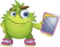 Funny Monster Cartoon Vector Character AKA Hal the Messy Pal - iPad 2