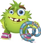 Funny Monster Cartoon Vector Character AKA Hal the Messy Pal - Email