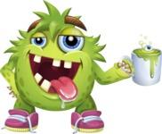 Funny Monster Cartoon Vector Character AKA Hal the Messy Pal - Coffee Mug