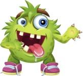 Funny Monster Cartoon Vector Character AKA Hal the Messy Pal - Showcase 2
