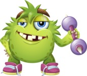 Funny Monster Cartoon Vector Character AKA Hal the Messy Pal - Strong