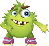 Funny Monster Cartoon Vector Character AKA Hal the Messy Pal - Show