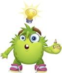 Funny Monster Cartoon Vector Character AKA Hal the Messy Pal - Idea