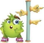 Funny Monster Cartoon Vector Character AKA Hal the Messy Pal - Crossroad