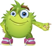 Funny Monster Cartoon Vector Character AKA Hal the Messy Pal - Point