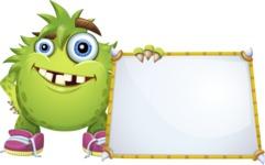 Funny Monster Cartoon Vector Character AKA Hal the Messy Pal - Presentation 5