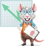 Smart Mouse with Glasses Cartoon Vector Character - Shape 6