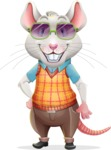 Smart Mouse with Glasses Cartoon Vector Character - with Sunglasses