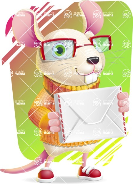 Cute Little Mouse Cartoon Character - Shape 11