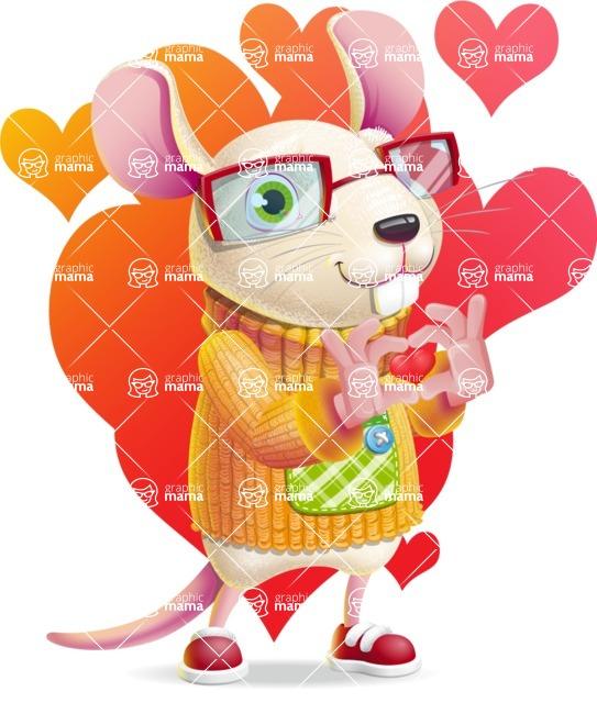 Cute Little Mouse Cartoon Character - Shape 7