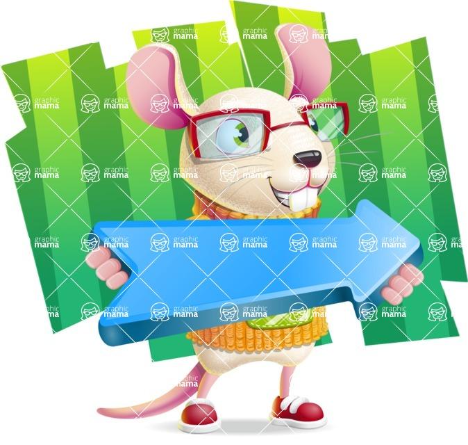 Cute Little Mouse Cartoon Character - Shape 8