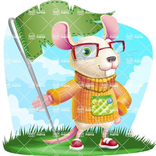 Cute Little Mouse Cartoon Character - Shape 9