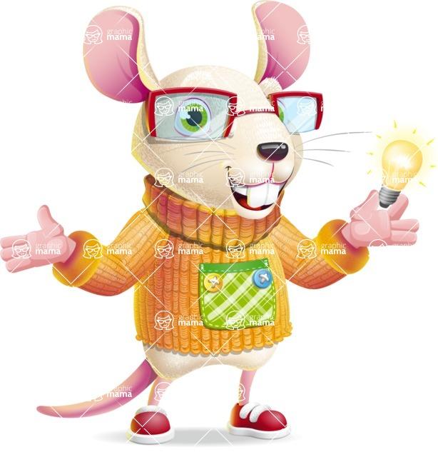 Cute Little Mouse Cartoon Character - with an Idea