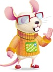 Cute Little Mouse Cartoon Character - Feeling Bored