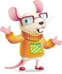 Cute Little Mouse Cartoon Character - Feeling Lost