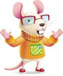 Cute Little Mouse Cartoon Character - Feeling Shocked