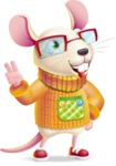 Cute Little Mouse Cartoon Character - Making Funny face