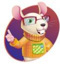Cute Little Mouse Cartoon Character - Shape 1