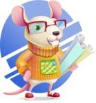 Cute Little Mouse Cartoon Character - Shape 10