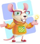 Cute Little Mouse Cartoon Character - Shape 12
