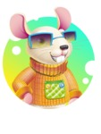 Cute Little Mouse Cartoon Character - Shape 2