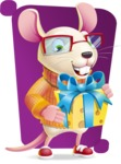 Cute Little Mouse Cartoon Character - Shape 5