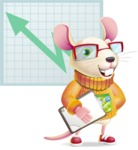 Cute Little Mouse Cartoon Character - Shape 6