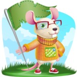 Cute Little Mouse Cartoon Character - Shape 9