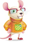 Cute Little Mouse Cartoon Character - Smiling