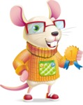 Cute Little Mouse Cartoon Character - Winning prize