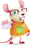 Cute Little Mouse Cartoon Character - with a Blank Business card