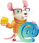 Cute Little Mouse Cartoon Character - with Email sign