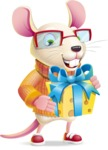 Cute Little Mouse Cartoon Character - with Gift box