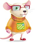 Cute Little Mouse Cartoon Character - with Sad face
