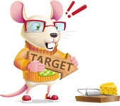 Cute Little Mouse Cartoon Character - with Target