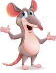 Cartoon Funny Mouse Vector Character - Feeling Lost