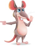 Cartoon Funny Mouse Vector Character - Finger pointing with angry face