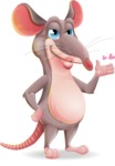 Cartoon Funny Mouse Vector Character - Making a Duckface for a selfie