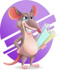 Cartoon Funny Mouse Vector Character - Shape 10
