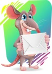 Cartoon Funny Mouse Vector Character - Shape 11