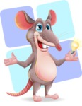 Cartoon Funny Mouse Vector Character - Shape 12