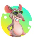 Cartoon Funny Mouse Vector Character - Shape 2