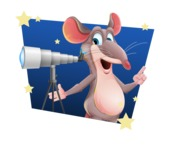 Cartoon Funny Mouse Vector Character - Shape 4