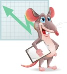 Cartoon Funny Mouse Vector Character - Shape 6